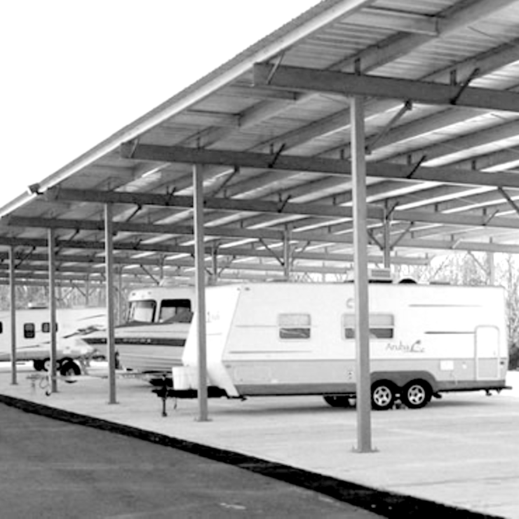 covered rv storage, covered boat storage Indianapolis area